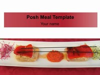 Posh Meal PowerPoint Template thumbnail