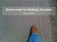 Shoes Made for Walking Template