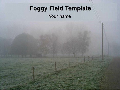 Foggy Field PowerPoint Template