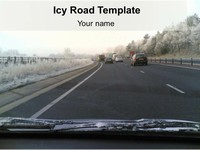 Icy Road PowerPoint Template thumbnail