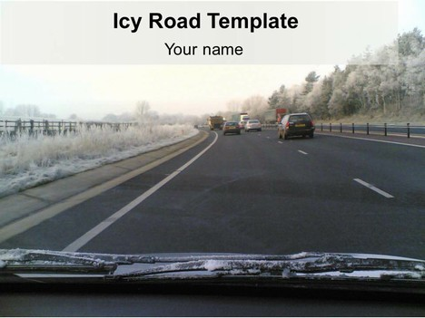 icy road powerpoint template, Modern powerpoint