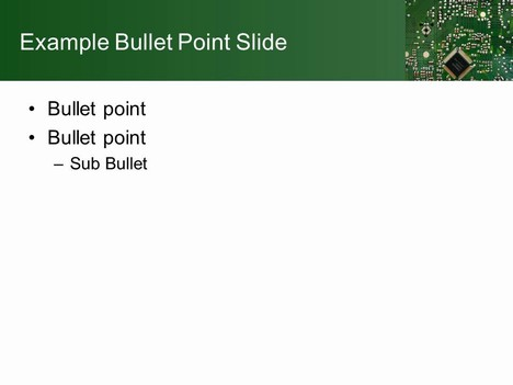 Printed Circuit Board Template inside page