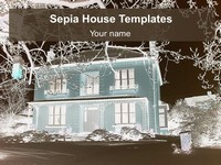 Sepia House Background PowerPoint Template thumbnail