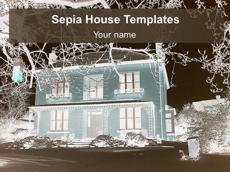 세피아 하우스 배경 템플릿