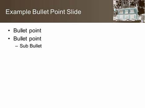 Sepia House Background PowerPoint Template inside page
