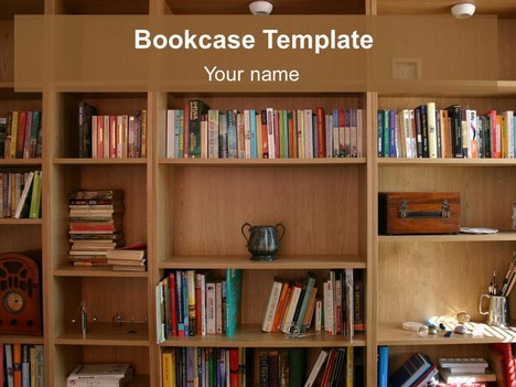 Bookcase powerpoint template toneelgroepblik Choice Image