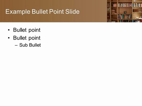 Bookcase PowerPoint Template inside page