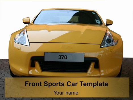 Front Sports Car Template