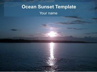 Ocean Sunset Background Template