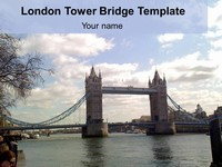 London Tower Bridge Template