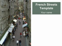 French Streets PowerPoint Template thumbnail