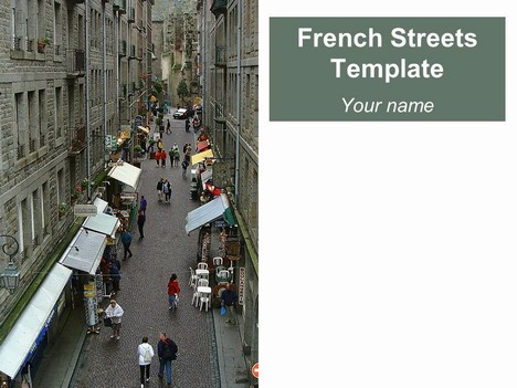 French Streets PowerPoint Template