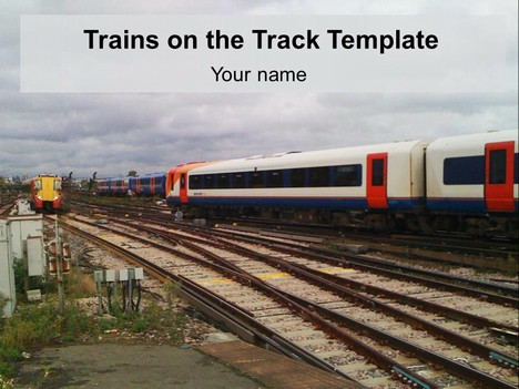Trains on the Track Template