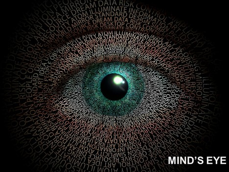 mind's eye powerpoint template, Modern powerpoint