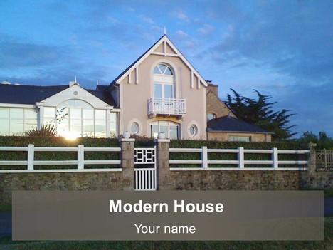 Modern House Powerpoint Template