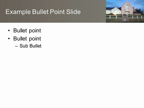 Modern House PowerPoint Template inside page