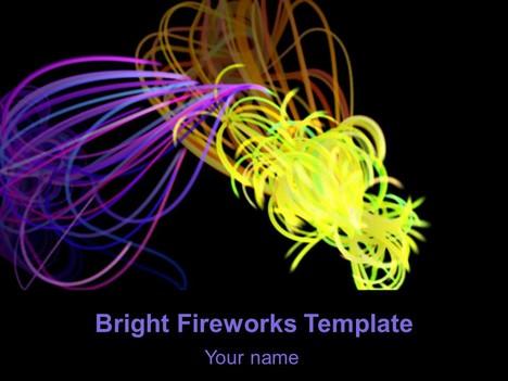 무료 밝은 불꽃 놀이 템플릿