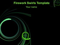 Abstract Firework Swirls PowerPoint Template