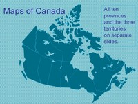 PowerPoint Maps of Canada Template thumbnail