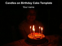 Candles on Birthday Cake Template