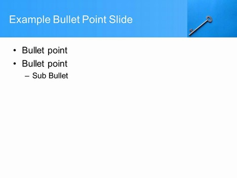 Key Background PowerPoint Template inside page
