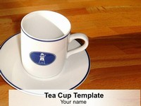 Tea Cup PowerPoint Template thumbnail