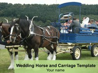 Wedding Horse and Carriage Template thumbnail