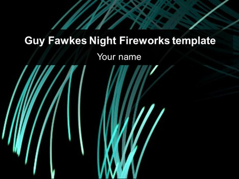 Guy Fawkes Night Fireworks Template