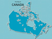 Map of Canada Template