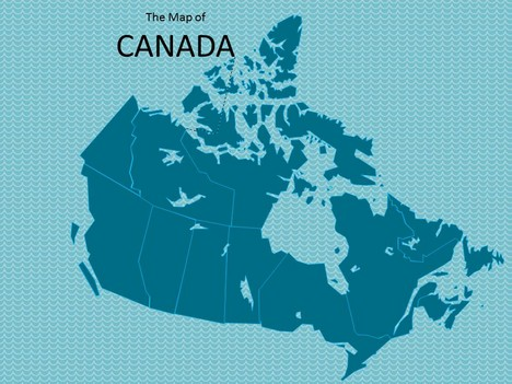 Map of Canada Template inside page