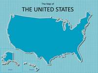 Map of USA PowerPoint Template thumbnail