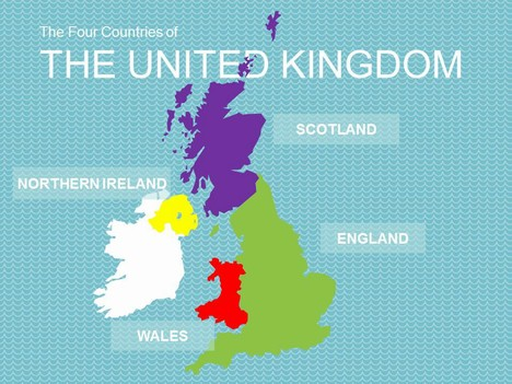 Map of the United Kingdom Template inside page