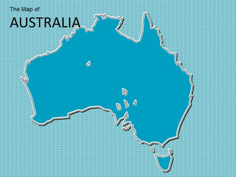 Map of Australia Template