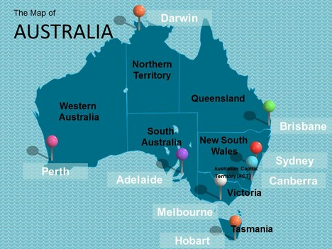 Map of Australia Template inside page