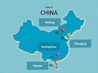 China Map Template thumbnail