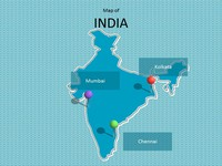 india map ppt template - map of london template