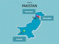 Pakistan Map Template