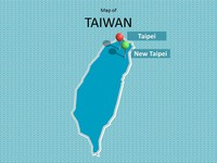 Map of Taiwan Template thumbnail