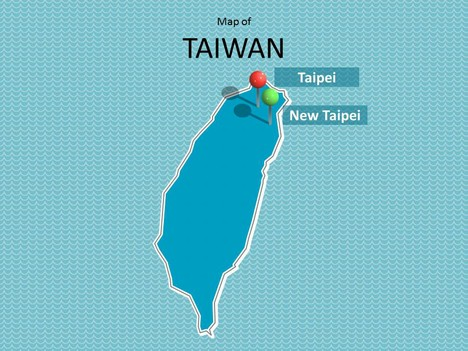 Map of Taiwan Template