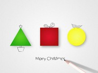 Christmas Graphic Shapes Template