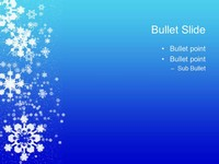 snowflakes on blue background template, Powerpoint