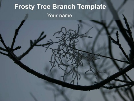 Frosty Tree Branch Template