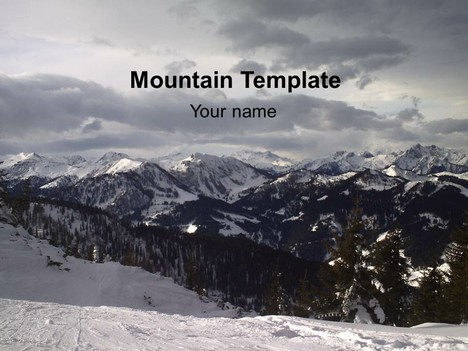 Mountain view template toneelgroepblik Image collections