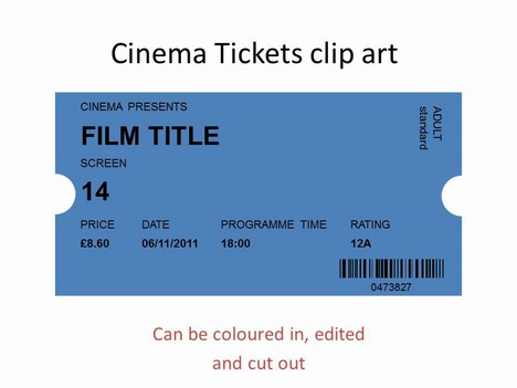 Cinema Tickets Clip Art