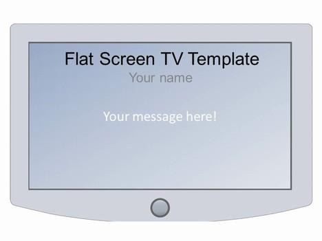 Wide-screen TV Frame Template