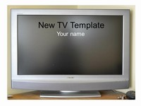 New Television Frame Template thumbnail