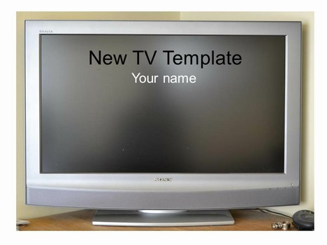 New Television Frame Template
