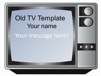Old-fashioned Television Set Template
