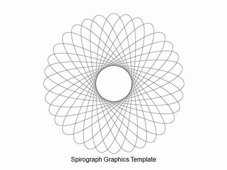 스피로 그래프 파워 포인트 템플릿