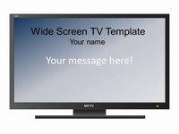 Widescreen Televison Set Template